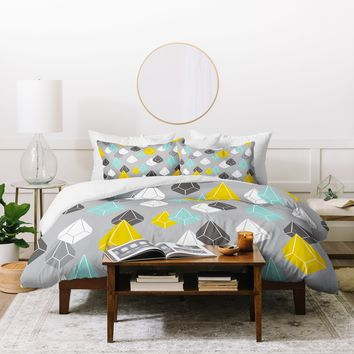 Heather Dutton Raining Gems Whisper Duvet Cover