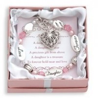 Love Daughter Forever Expressively Yours Bracelet Gift Boxed