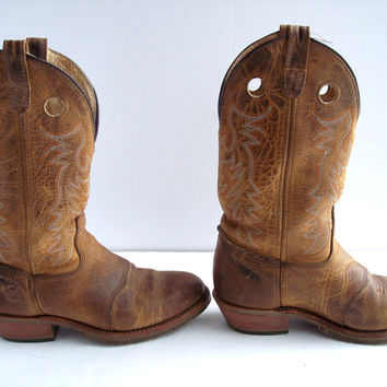 Vintage Double H Western Boots Ladies 9.5 Leather Boots