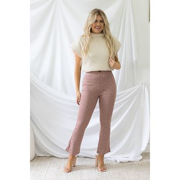 Minding My Business Pants - Spicy Red