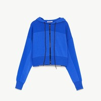 CROPPED SWEATSHIRT WITH ZIP