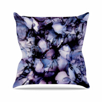 """Claire Day """"Violet"""" Blue Purple Throw Pillow"""