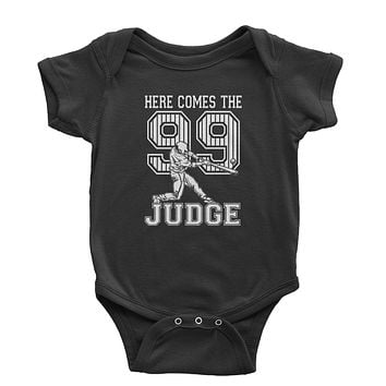 Here Comes The Judge 99  Infant One-Piece Romper Bodysuit