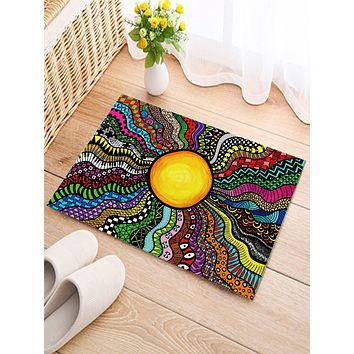 Graphic Print Floor Mat