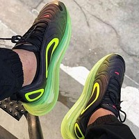 Nike Air Max 720 Popular Men Women Air Cushion Sport Running Shoes Sneakers Black&Green