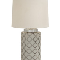 Fancy Styled Ceramic Metal Table Lamp