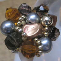 EARTHBOUND-Ring Designed With Vintage Upcycled Jewelry