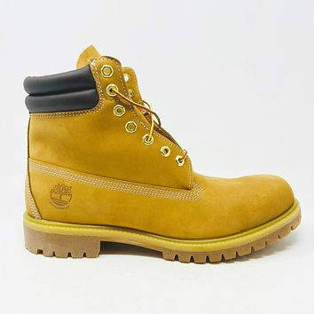 "Timberland Premium 6"" Waterproof Boots Wheat Nubuck Mens 11 TB073540 231"