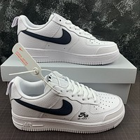 Morechoice Tuhz Nike Air Force 1 Gs White Obsidian Low Sneakers Casual Skaet Shoes Cz4203-101