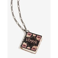 BUFFY THE VAMPIRE SLAYER VAMPYR BOOK REPLICA CHARM NECKLACE Officially Licensed