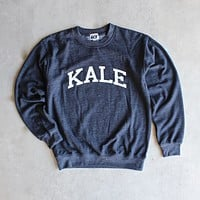 Sub_Urban Riot - Kale Crew Neck Sweatshirt in Navy
