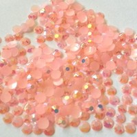 GoldenLiving168 Peachy Pink AB Crystal 800pcs Round Jelly Rhinestone 4mm (16ss) 3D Acrylic Nail Art Decoration Cellphone Case (High Quality) USA SELLER! FAST SHIPPING!...