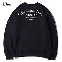 DIOR 2018 autumn and winter new men and women sweater letters printed sweater black