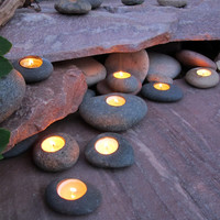 Tealight Rock Candle Holders (Set of 3)