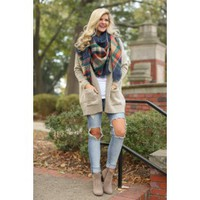 Bundle By The Fire Camel Cardigan