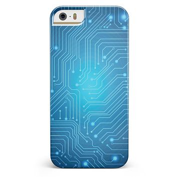 Blue Circuit Board V2 iPhone 5/5s or SE INK-Fuzed Case