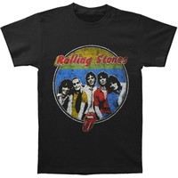 Rolling Stones Men's  78 Band Respectable Bootleg T-shirt Black Rockabilia