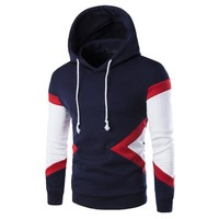Men Mosaic Hats Pullover Hoodies Casual Korean Slim Tops Jacket [6528702147]