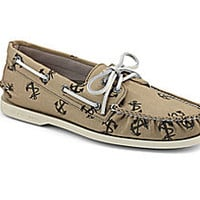 Anchor Tatoo Canvas Authentic Original 2-Eye Boat Shoe