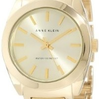 Anne Klein Women's AK/1060CHGB Round Gold Tone Watch