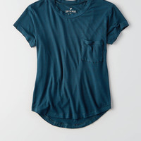 AEO Soft & Sexy Crew Pocket T-Shirt, Teal