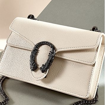 New simple retro trendy texture chain fashion all-match single shoulder messenger bag