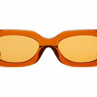 Crap Eyewear - The Supa Phreek Crystal Bourbon Sunglasses / Burnt Orange Lenses