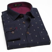 Shirts Print Men's Fancy Shirts Male Casual Dress Shirts Men's Cotton Shirts