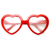Heart Shaped Diffraction Rainbow Color Party Rave Lens Glasses