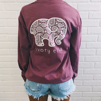 Classic Fit Berry Inverse Paisley Tee