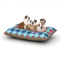 """Jane Smith """"Seasons Winter"""" Blue Red Dog Bed"""