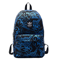 """Adidas"" Fashion Casual Male Female Student High Capacity Canvas College Winds Clover Travel Movement Waterproof Backpack"
