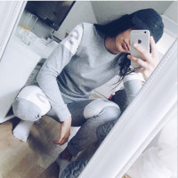 Fashion Letter printing hoodies sport suit