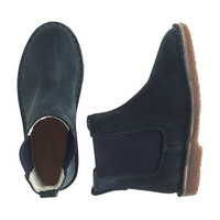 GIRLS' SUEDE PULL-ON BOOTS