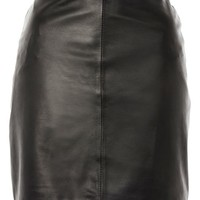 Leather Mini Pencil Mini Skirt by Boutique - Clothing