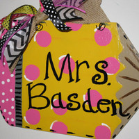 Back To School Pencil door hanger, Teacher door hanger, Classroom door hanger. Teacher's gift