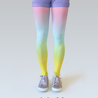 Ombre tights - Rainbow