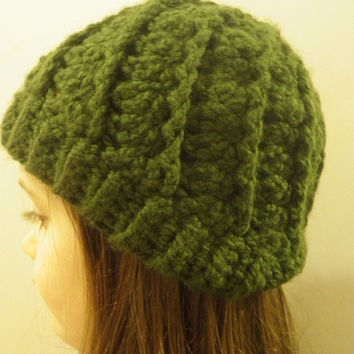 Chunky Swirl Beanie in your color choice, Crochet winter hat