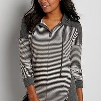pullover tunic with stripes and hood | maurices