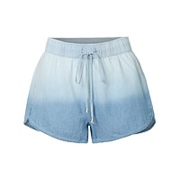 Lightweight Washed Denim Shorts with Drawstring Waist (CLEARANCE)