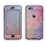 The Messy Water-Color Scratched Surface Apple iPhone 6 Plus LifeProof Nuud Case Skin Set