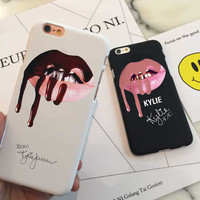 phone cases Sexy Girl  Kylie Jenner Lip Phone Case Cover for iPhone 5 5s 5c SE 6 6s 6plus 7 7plus Hard plastic Cases