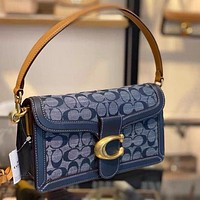 Coach fashion printed casual lady handbag with one shoulder cross-body flip bag