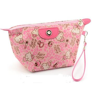 Fashion Hello Kitty Style Cosmetic Bags Printing Women Travel Makeup Case Portable Make Up Bag Organizer For The Bag