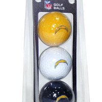 San Diego Chargers 3 Pack of Golf Balls