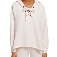 WILDFOX Hutton Lace-Up Sweatshirt | Bloomingdales's