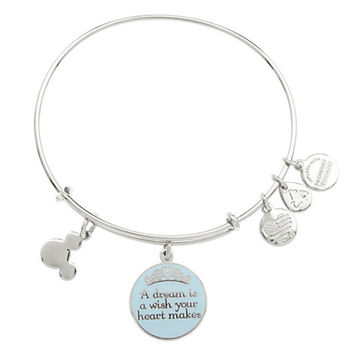 Disney Alex and Ani Parks Cinderella Dream Charm Bracelet Silver New With Tags