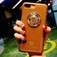 Versace Trending  iPhone Phone Cover Case For iphone 6 6s 6plus 6s-plus 7 7plus hard shell Brown