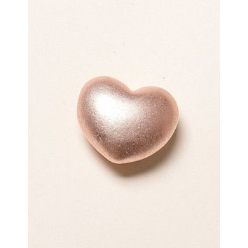 Solid Copper Puffy Heart - Large