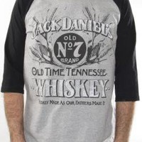 ROCKWORLDEAST - Jack Daniel's, Baseball Tee, Old Time Tennessee Whiskey